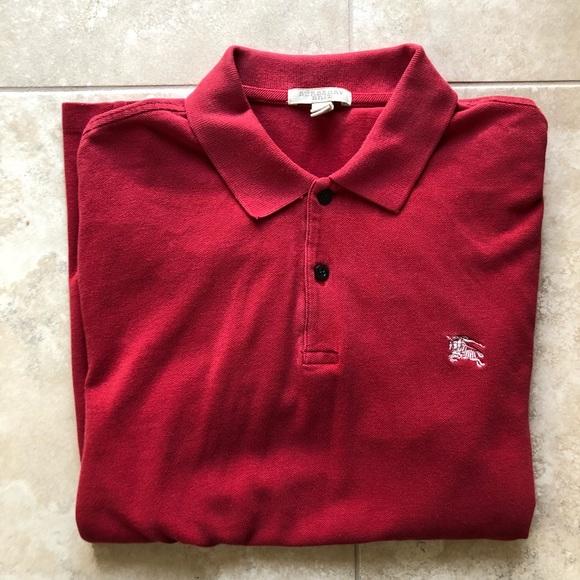 burberry brit red shirt
